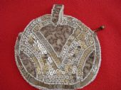 Art Deco 1930s Small Round Evening Purse  with Beadwork and Sequins (SOLD)